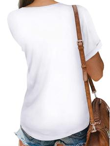 NSQTBA Women's V Neck Wrap Top