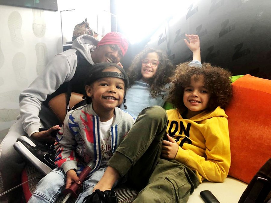Nick Cannon and his children Celebrity Parents Describe Talking to Their Children About Interacting With the Police