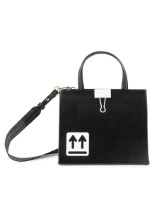 Off-White Baby Binder Clip Leather Box Bag