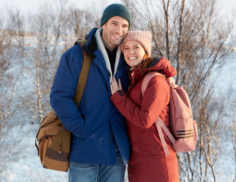 Colin Donnell and Patti Murin Love on Iceland Celebrity Couples Who Starred in Hallmark Channel Movies Together