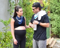 Pregnant Lea Michele Steps Out for 1st Time Since Glee Scandal With Husband Zandy Reich