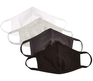 Quality Durables Adults and Kids 4-Pack Reusable Face Covering