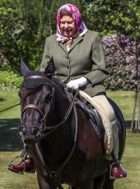 Queen Elizabeth II Goes Horseback Riding Self-Isolating Windsor Castle