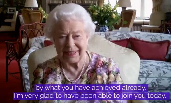 Queen Elizabeth II Takes Part in Her 1st Public Zoom Ahead of Her 94th Birthday Parade