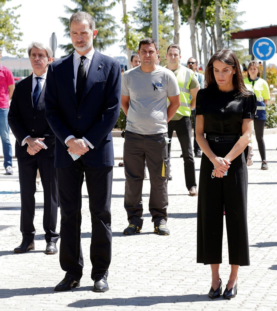 Queen Letizia Pays Her Respects in Sleek Culottes