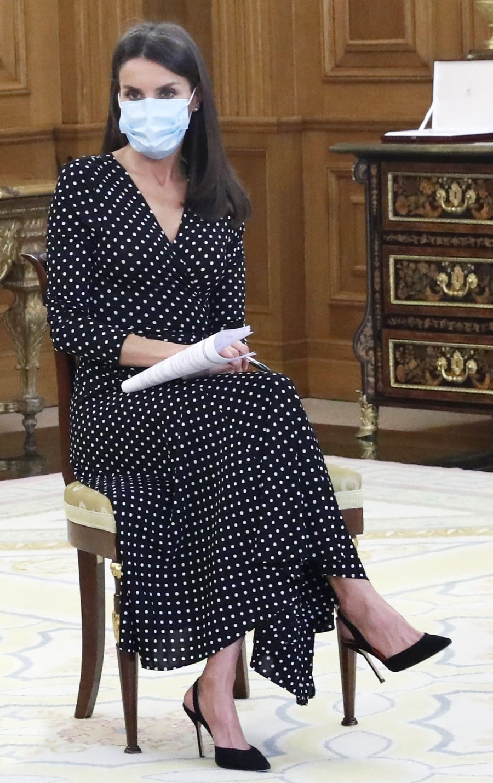 Queen Letizia Polka-Dot Dress