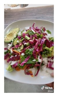Salad Lizzo Vegan Diet