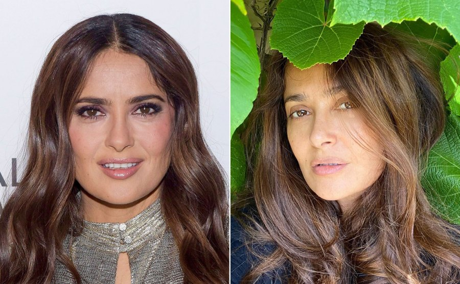Salma Hayek Becomes One With Nature in Makeup-Free Selfie