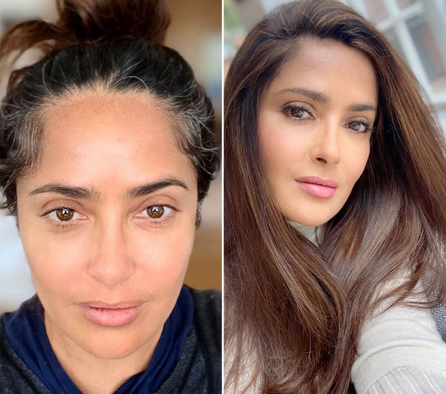 Salma Hayek 'Finally' Does Her Roots: See the Before and After Pics