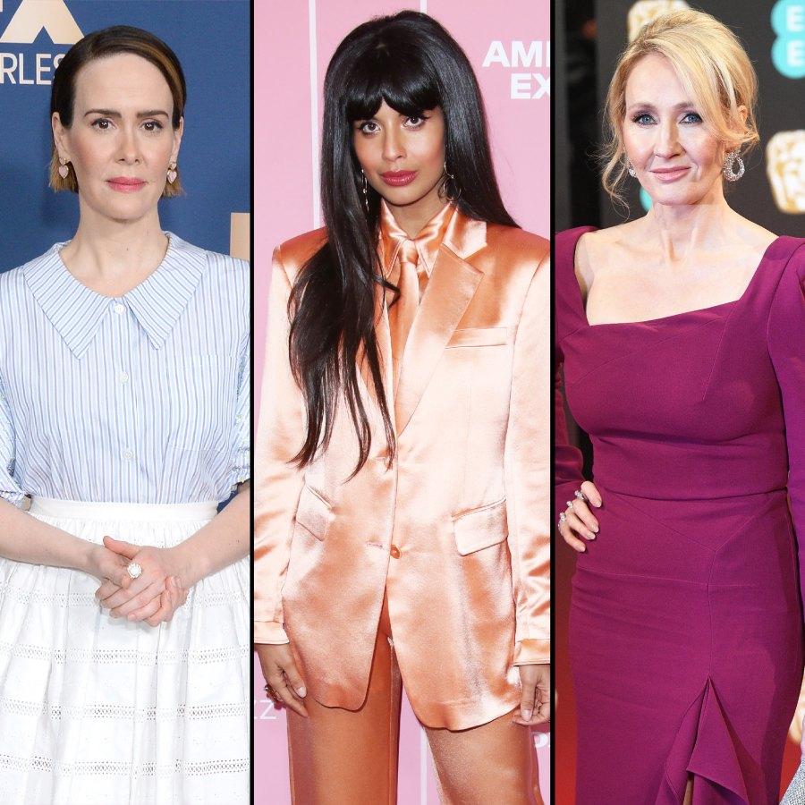 Sarah Paulson Jameela Jalil and More Celebs Respond to J.K.Rowlings Anti-Trans Tweets