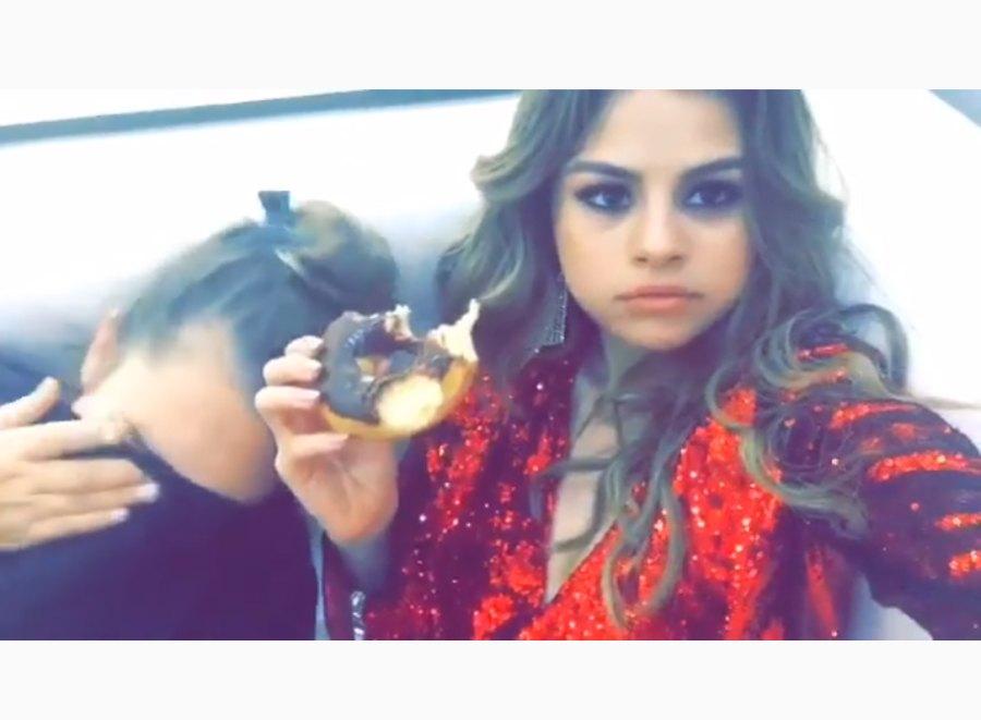 Selena Gomez donut sweet tooth