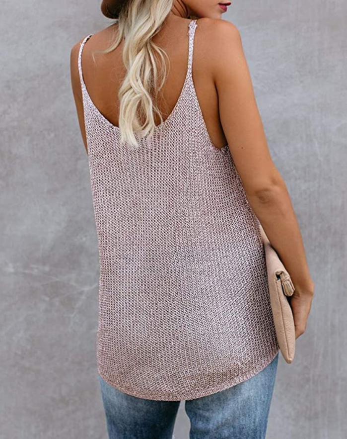 Sherrylily Women Oversize Scoop Neck Tank Top (Picture)