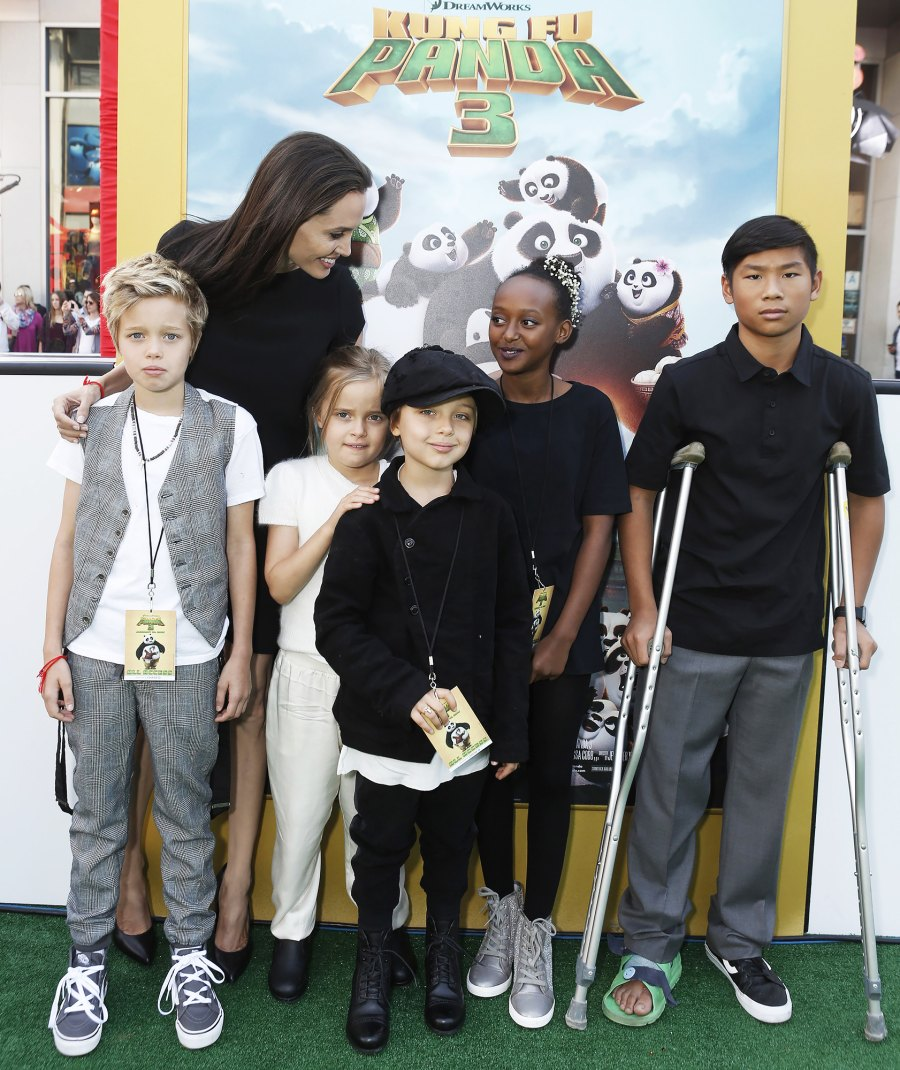 Shiloh Jolie-Pitt, Angelina Jolie, Vivienne Jolie-Pitt, Knox Leon Jolie-Pitt, Zahara Jolie-Pitt, Pax Jolie-Pitt