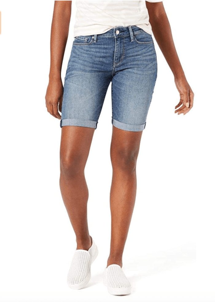 Signature by Levi Strauss & Co. Gold Label Women's Mid-Rise Bermuda Shorts (Cape Town)