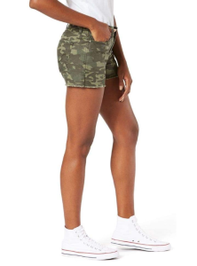 Signature by Levi Strauss & Co. Gold Label Women's Mid-Rise Cut Off Shorts (Camo Green)