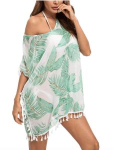 Taydey Women's Stylish Chiffon Tassel Bikini Cover Up