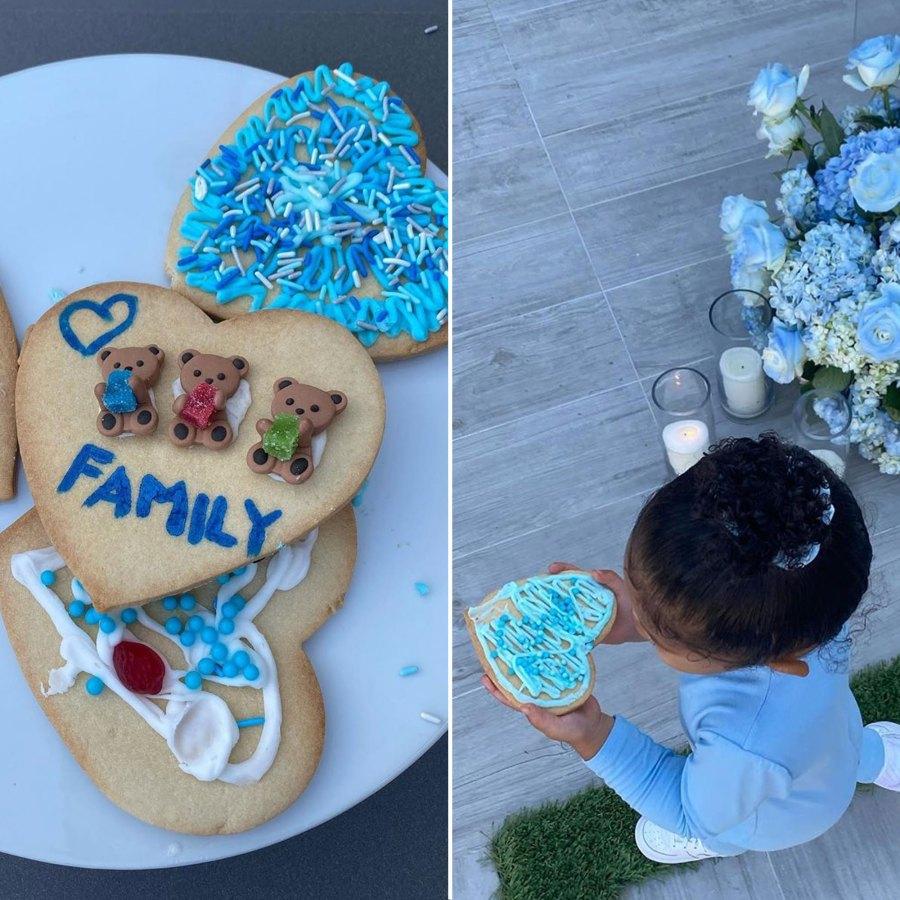 Travis Scott Kylie Jenner Instagram Celebrate Fathers Day Food