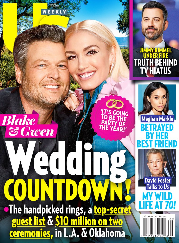 Us Weekly Issue 2820 Cover Blake Shelton and Gwen Stefani Wedding Countdown David Foster Gushes Over 'Magical' Wife Katharine McPhee