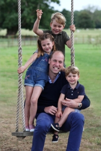 Prince William Smiles With Kids George, Charlotte and Louis in New Photo Taken by Duchess Kate for His 38th Birthday
