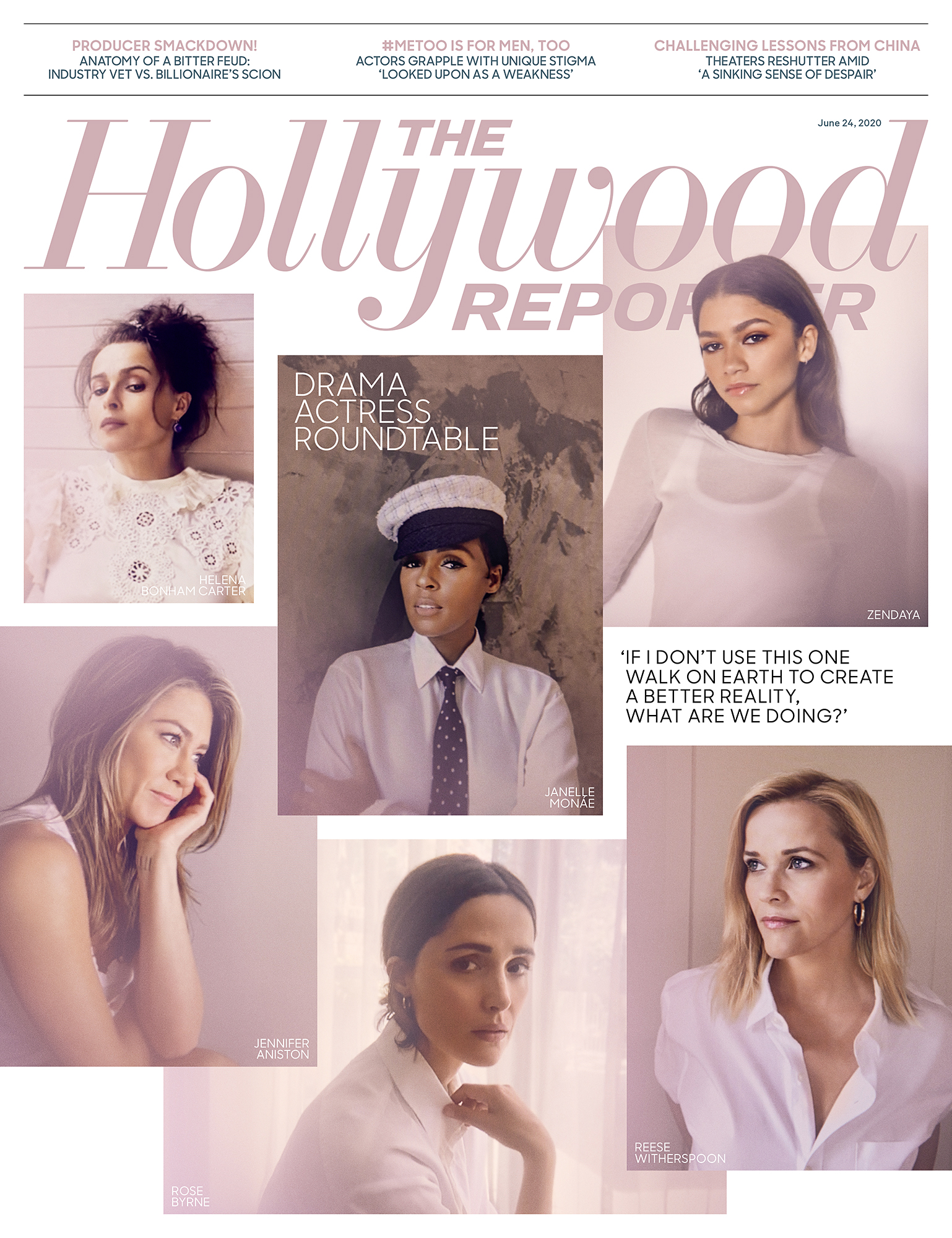 Hollywood Reporter Cover Zendaya Admits to Feeling a Heavy Responsibility to Represent Black Women in Hollywood