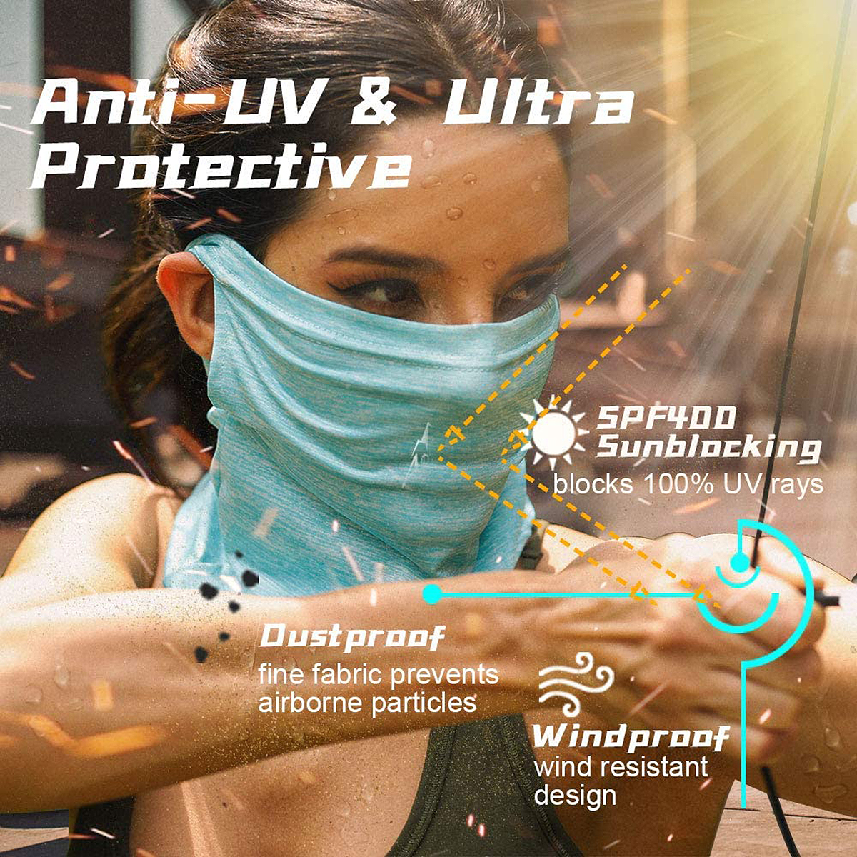 ARRUSA Summer Cool Face Cover