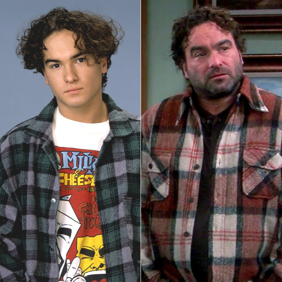 galecki roseanne then and now