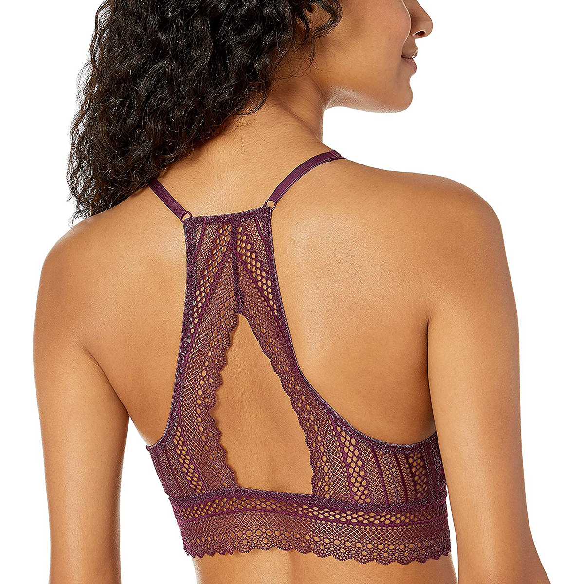 Mae Women's High-Neck Lace Bralette