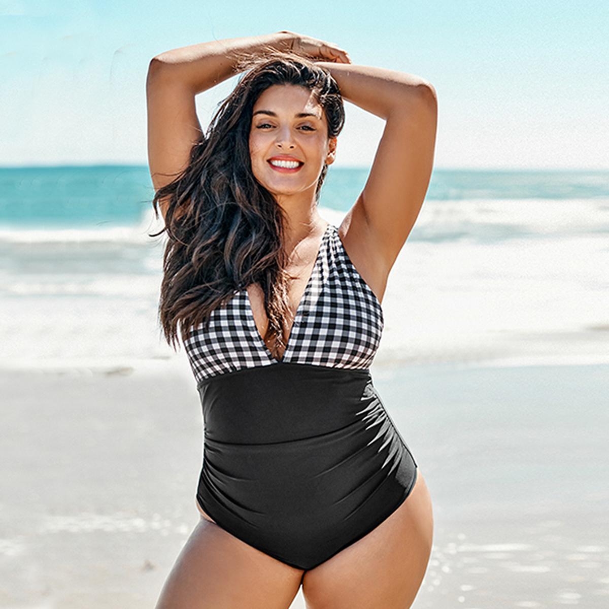 tummy-control-swimsuit-gingham