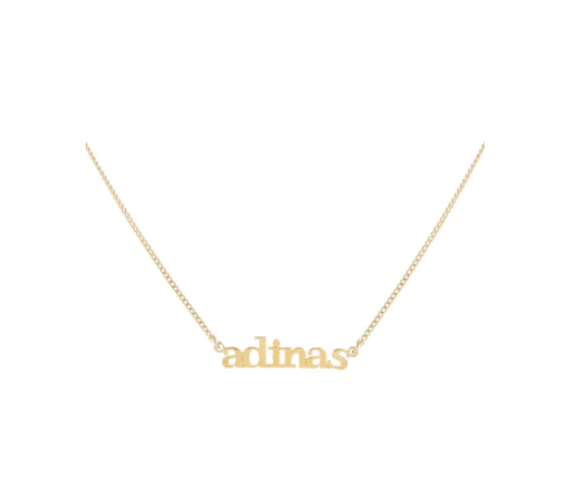 Adina's Jewels Personalized Mini Lowercase Nameplate Necklace