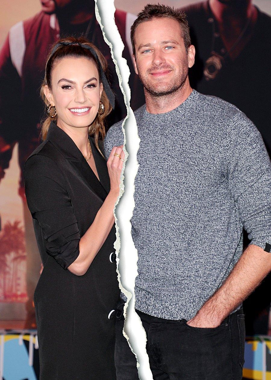 Armie Hammer Elizabeth Chambers Celeb Splits 2020 Celebrity Couples Who Split Quarantine