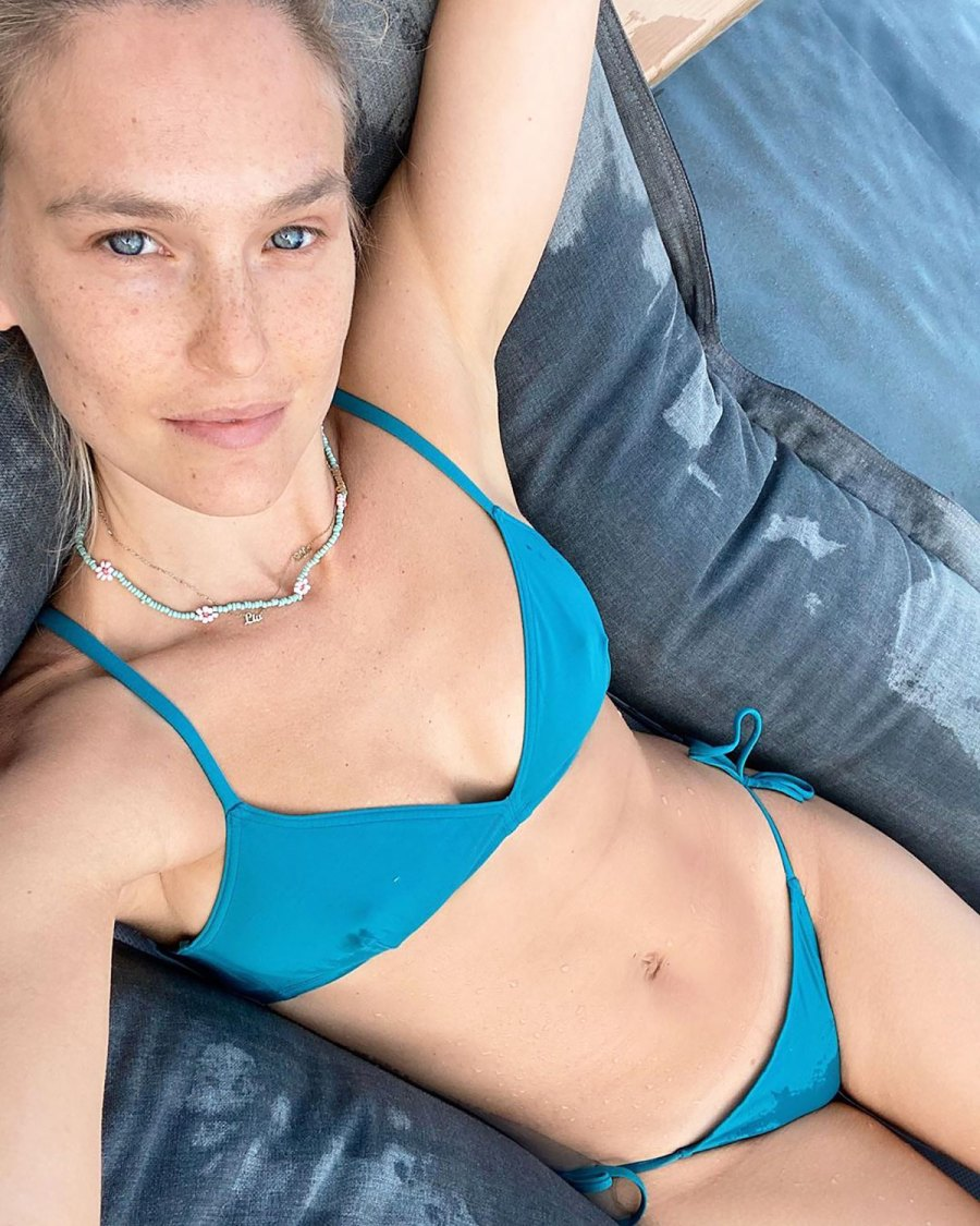 Bar Refaeli Lounges Around in a Little Blue Bikini: Pic