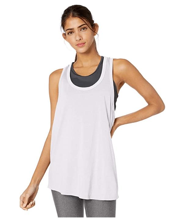 Beyond Yoga Women's All About It Racerback Tank (White)