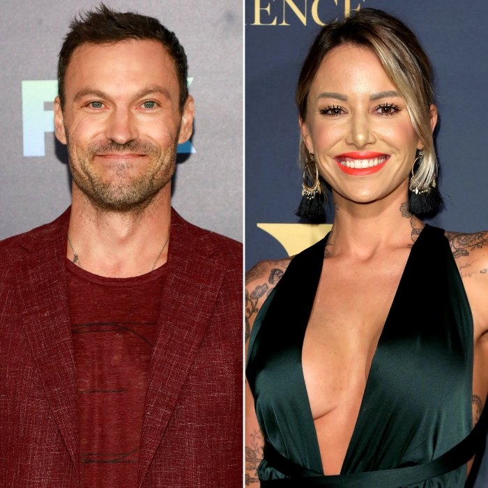 Brian Austin Green and Tina Louise Display PDA as They Step Out in Los Angeles