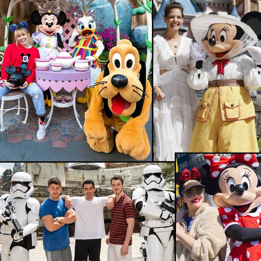 Celebs Visit Disney Theme Parks