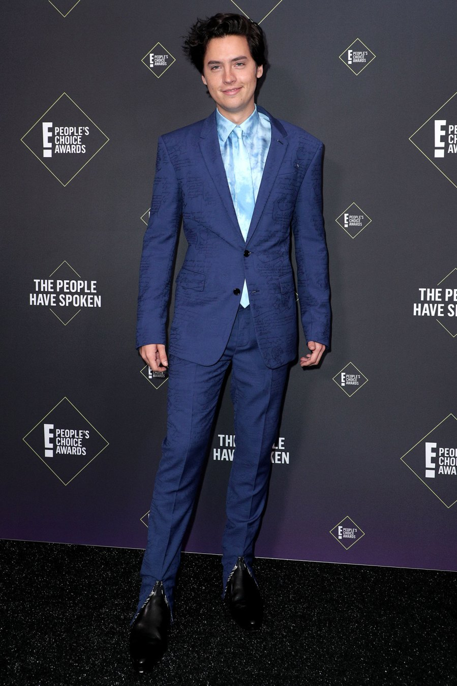 Cole Sprouse Promises to Be More Active on Instagram Blue Suit