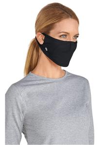 Coolibar UPF 50+ Men's Women's Blackburn UV Mask (Black)