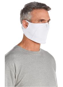 Coolibar UPF 50+ Men's Women's Blackburn UV Mask (White)