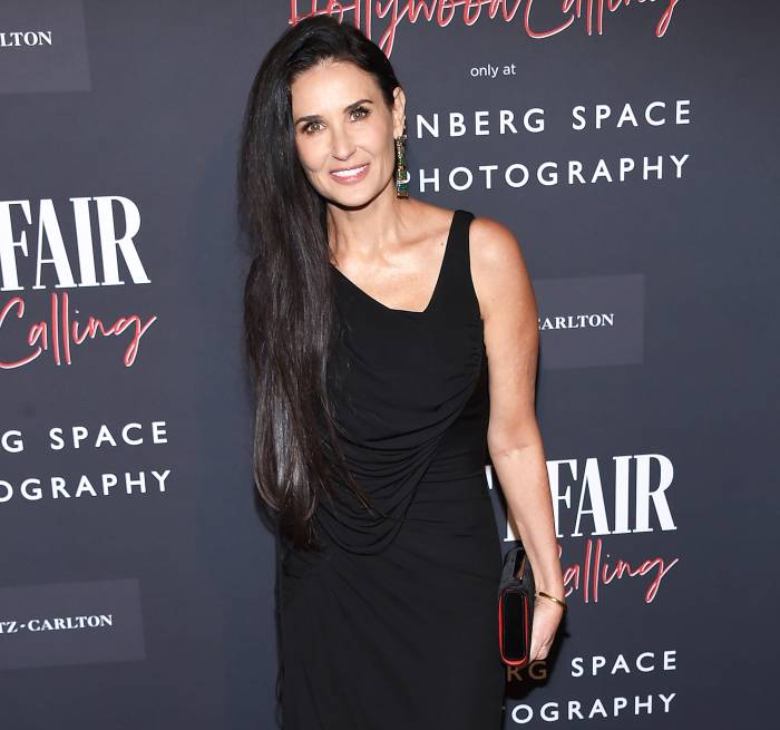 Demi Moore attends the Vanity Fair Hollywood Calling Exhibition in 2020 Demi Moore Says She Lost Herself in Her Marriages to Fit What Somebody Else Wanted