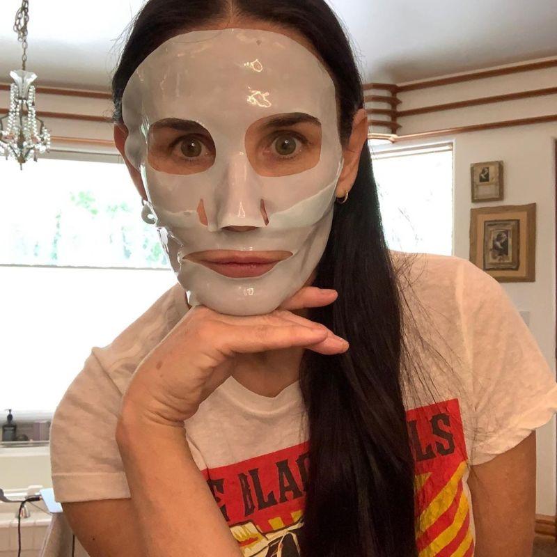 Demi Moore mask