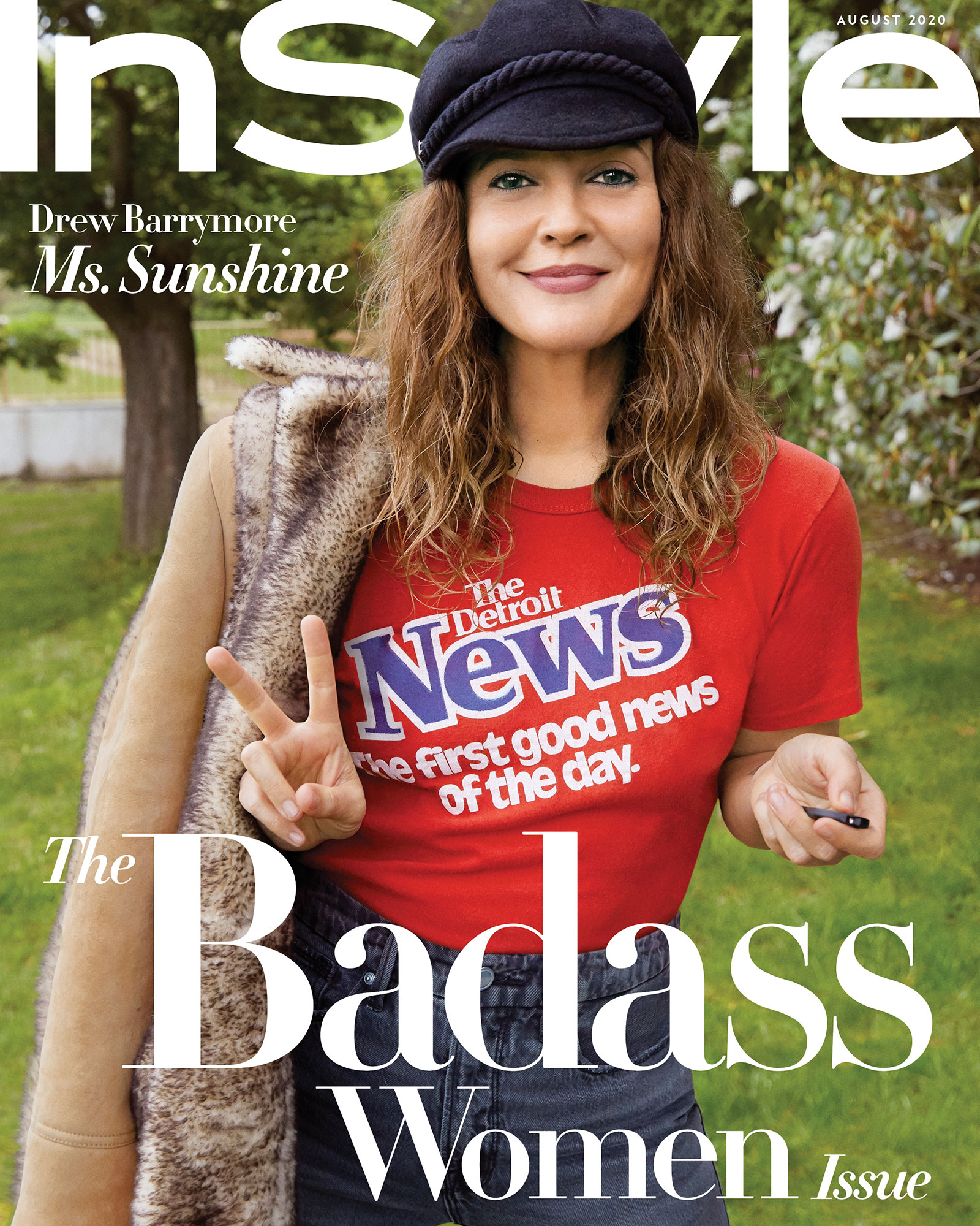 Drew Barrymore InStyle Cover August 2020