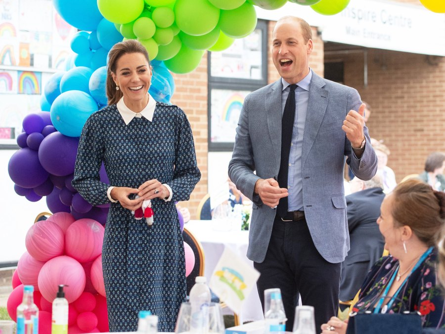 Duchess Kate Laughs With Prince William as They Have Afternoon Tea With Hospital Staff