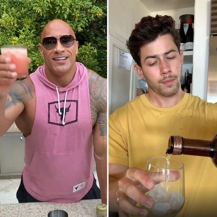 Dwayne Johnson Nick Jonas tequila brands