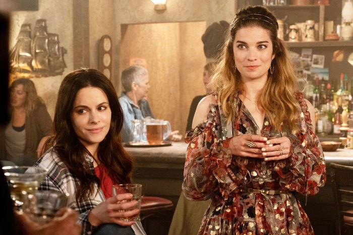Emily Hampshire and Annie Murphy in Schitts Creek Schitts Creek Star Annie Murphy Choked on Bacon After Finding Out About Her Emmy Nomination