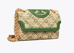 Fleming Soft Straw Small Convertible Shoulder Bag