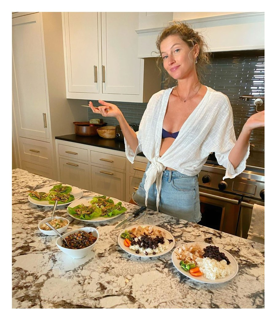 Gisele Bundchen Stars Share What They Eat for Lunch