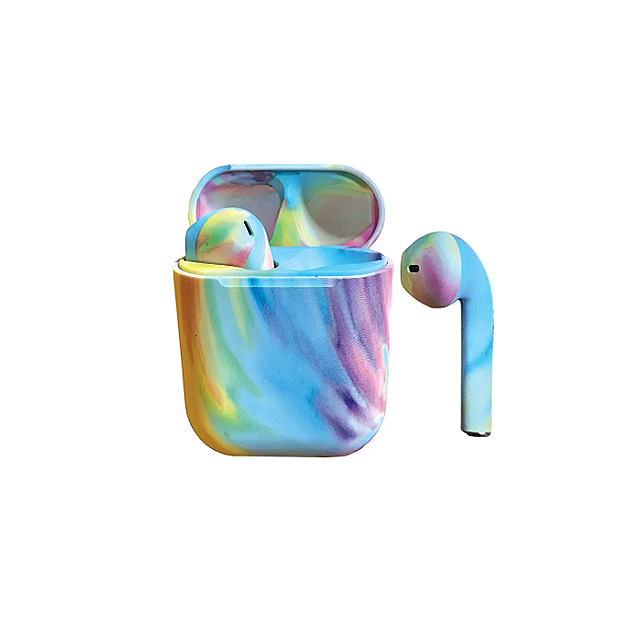 Iscream Pastel Tie Dye Earbuds with Case