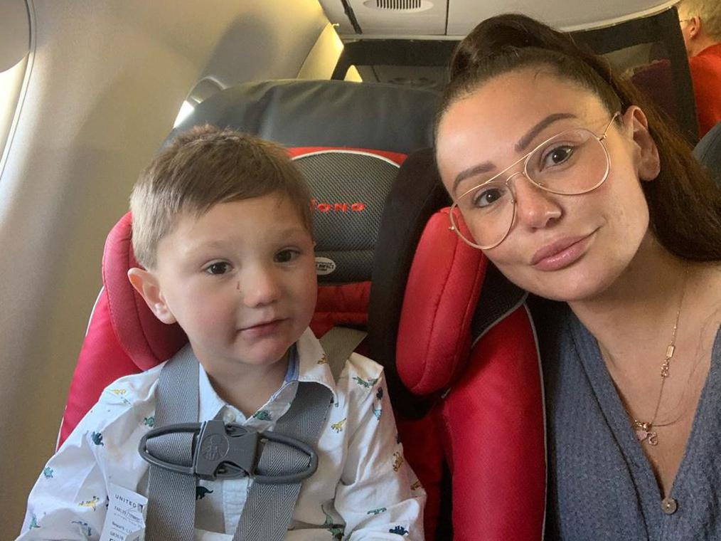 Jenni JWoww Farley Cracks Up When Son Greyson 4 Flips Off Camera