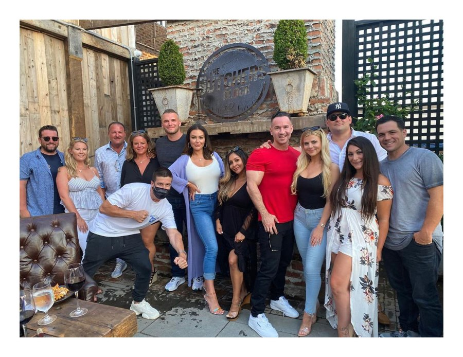 Jersey Shore Cast Shades Angelina Pivarnick at Mike Sorrentino Birthday Celebration