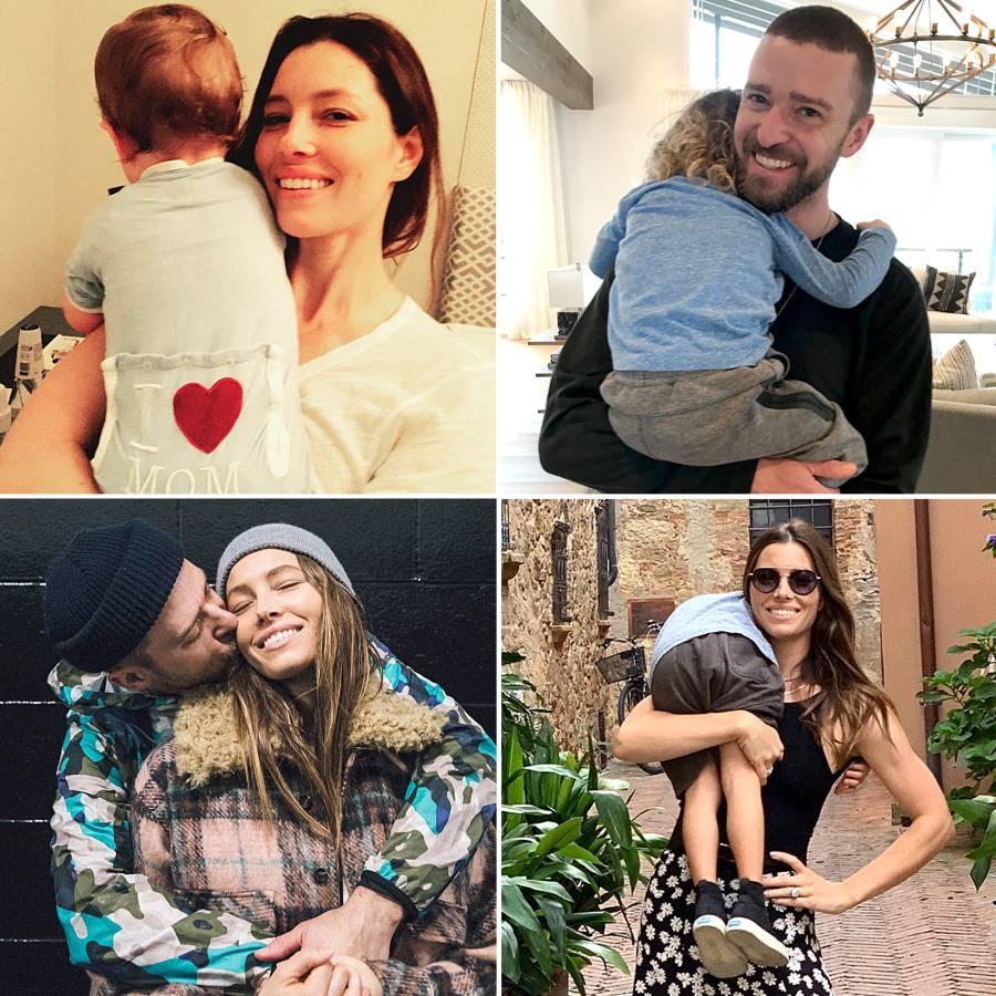 Jessica Biel Justin Timberlake Family Pics Before Baby No 2