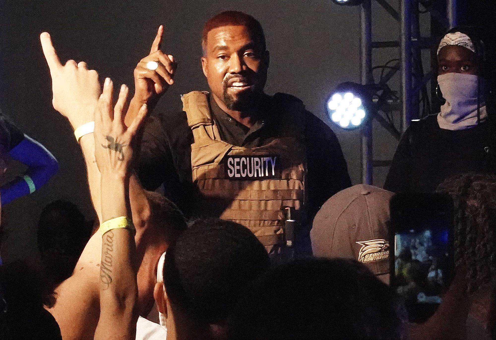 Kanye West Cries at First Campaign Rally and Says He Talked to Kim Kardashian About Having an Abortion With First Child North
